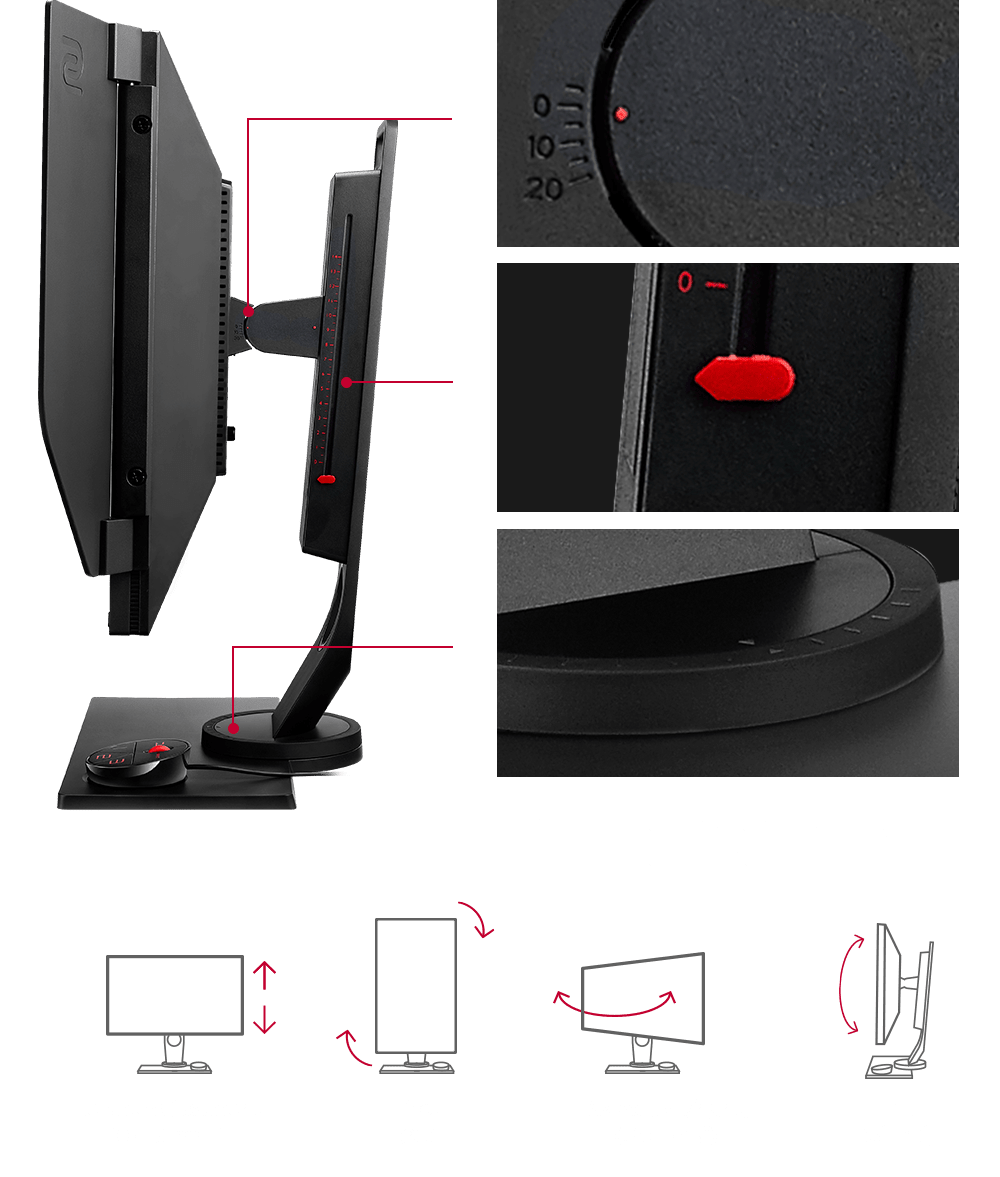 Height Adjustable Stand - Gaming in Comfort